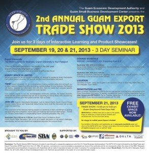 a guam export u flyer front page